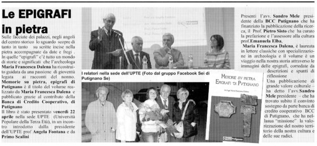 Epigrafi su Il Giornale ….
