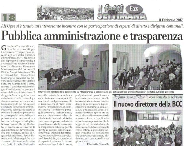 PA e Trasparenza su Fax