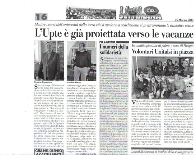Napolitano e Bianco su Fax del 25 marzo