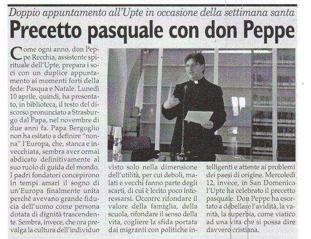Don Peppe su Fax del 15 aprile 2017