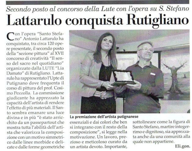 Premiazione Lattarulo