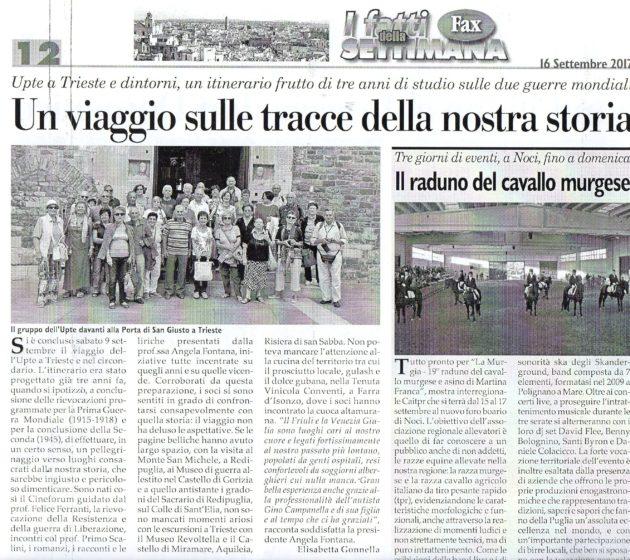 Viaggio a Trieste su Fax del 16 settembre 2017