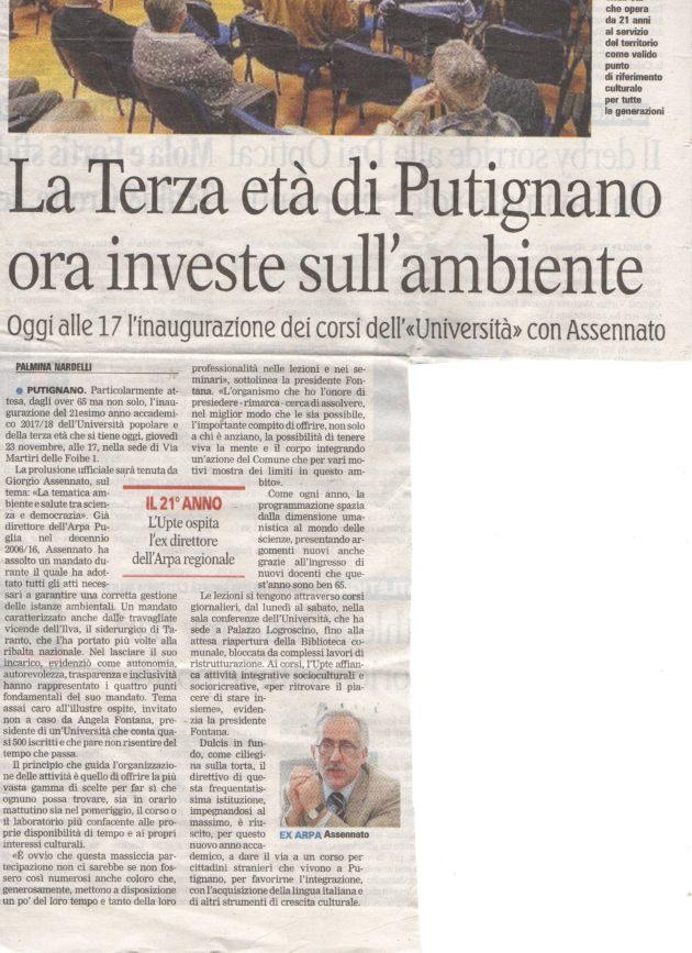 UPTE su La Gazzetta