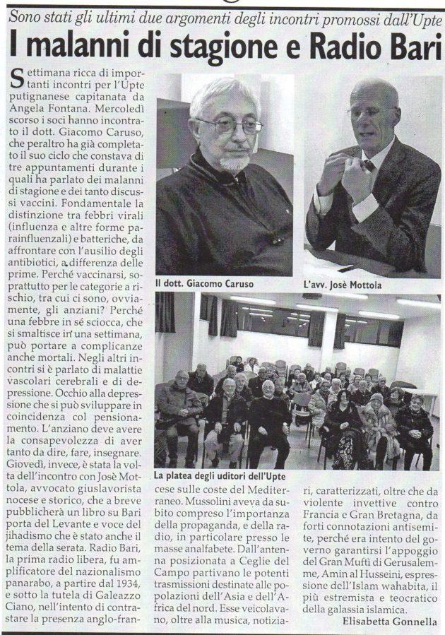 Caruso e Mottola su Fax del 2 dicembre 2017