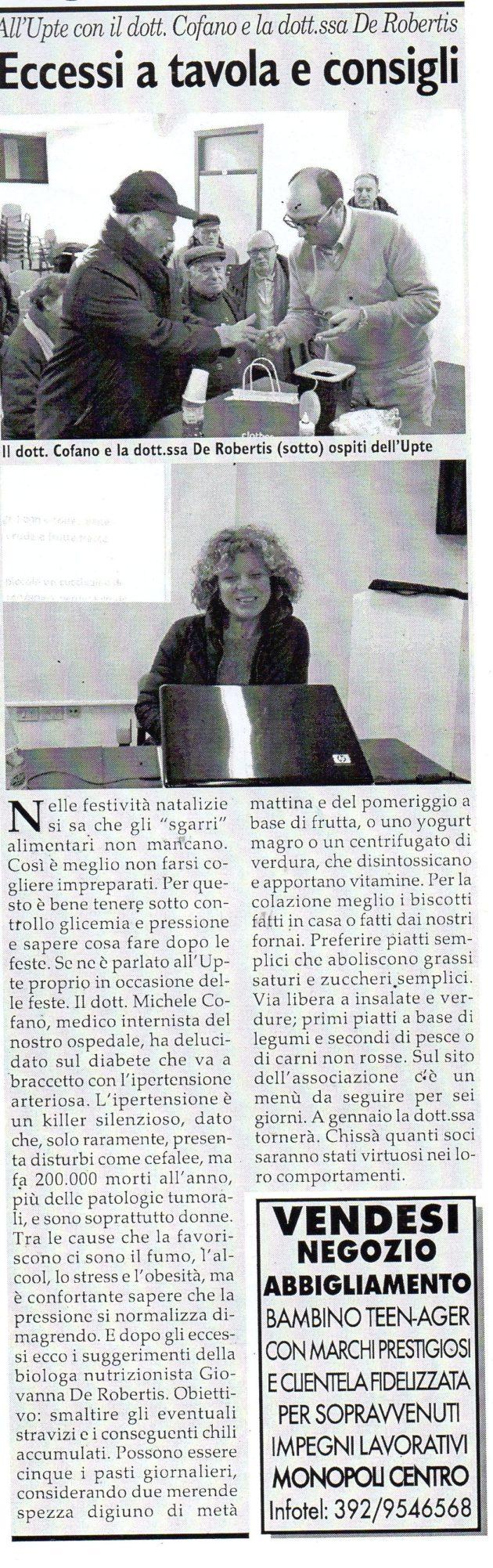 Cofano e Derobertis su Fax del 30 dicembre 2017