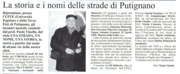 Paolo Vinella su Il Giornale del 27 gennaio 2018