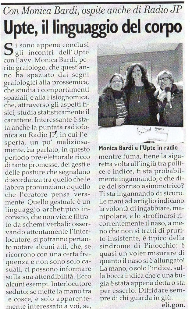 Monica Bardi su Fax del 24 febbraio 2018