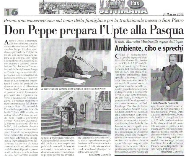 Don Peppe e Mastrorilli su Fax del 31 marzo 2018