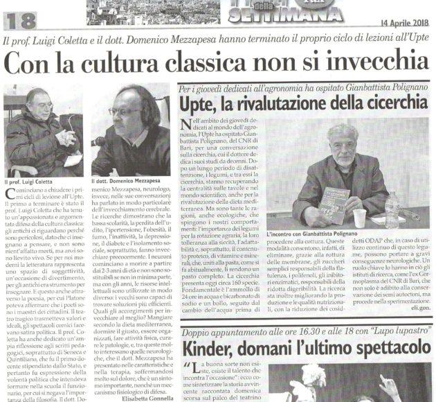 Coletta, Mezzapesa e Polignano su Fax del 14 aprile 2018
