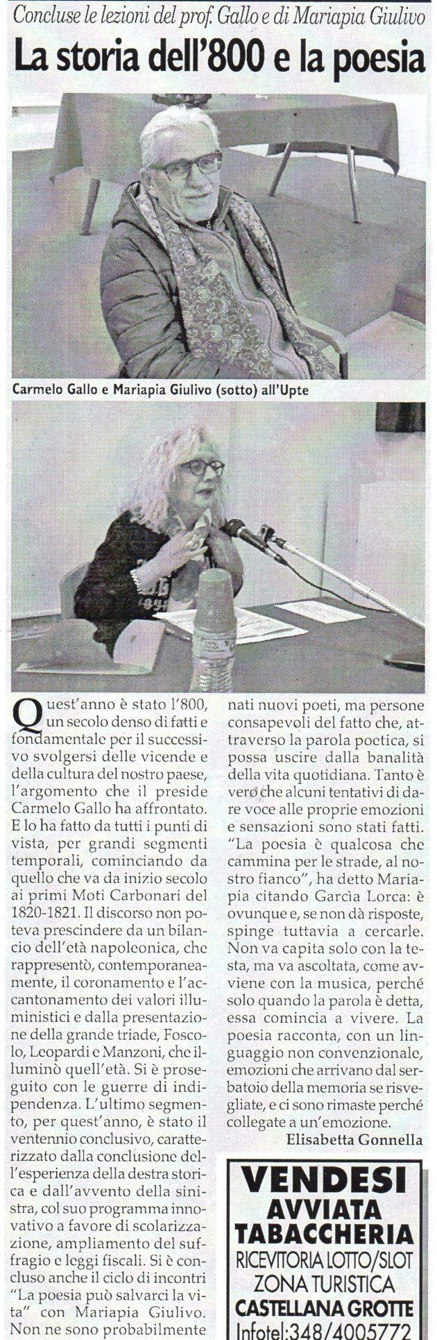 Gallo e Giulivo su Fax del 21 aprile 2018