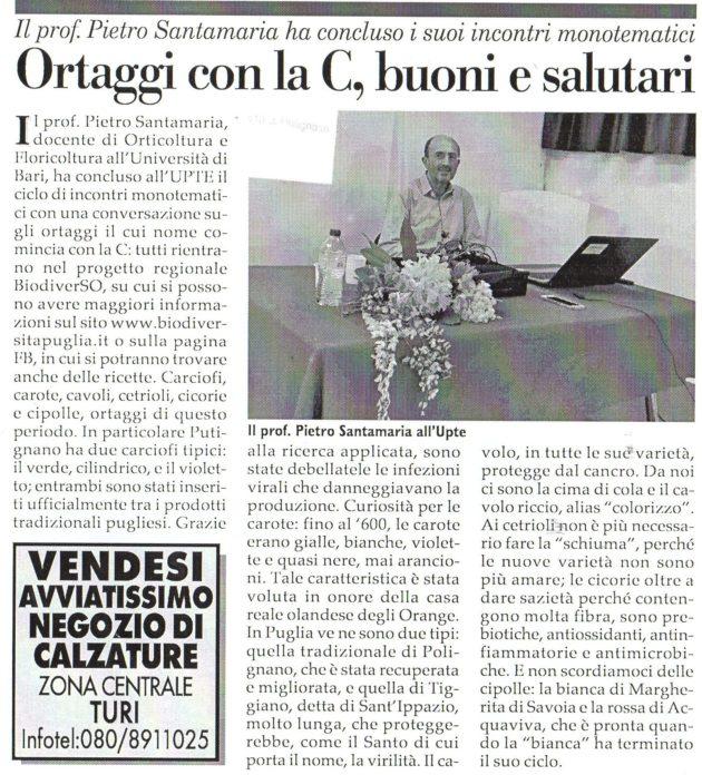 prof. Pietro Santamaria su Fax del 28 aprile 2018