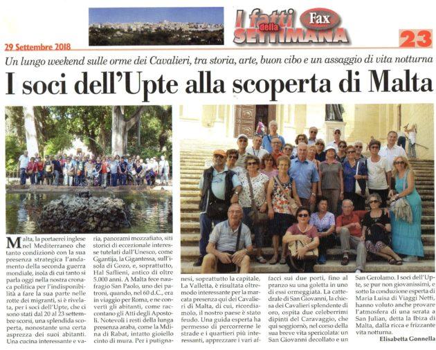 Visita Malta su Fax del 29-09-2018