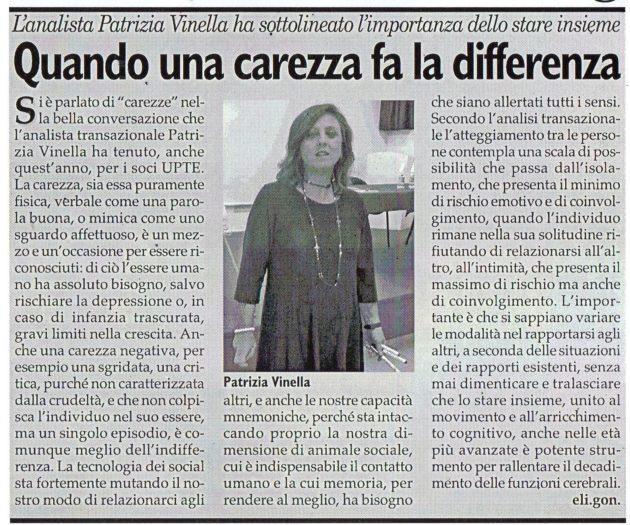La dott.ssa Vinella su Fax del 20 ottobre 2018