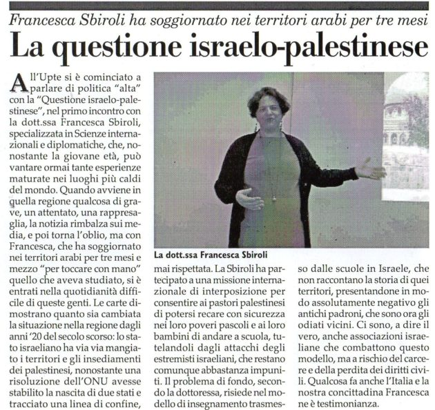 Francesca Sbiroli su Fax del 24 novembre 2018