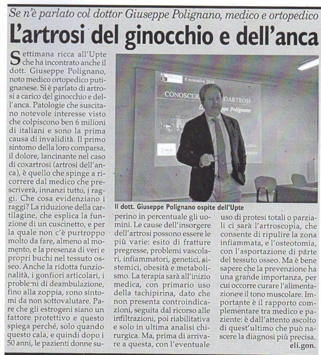 Giuseppe Polignano su Fax del 10 novembre 2018