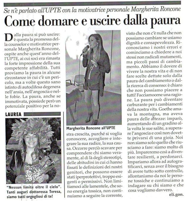 Margherita Roncone su Fax del 29 dicembre 2018