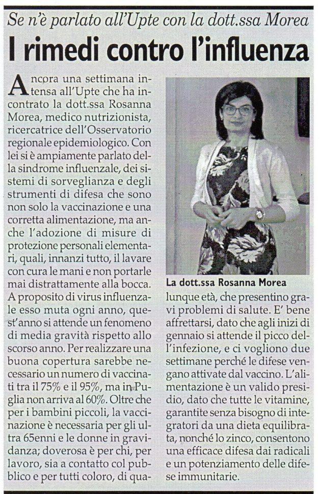 dott.ssa Morea su Fax del 15 dicembre 2018