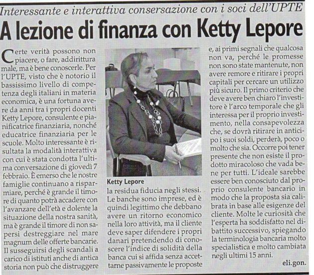 Ketty Lepore su Fax del 16 febbraio 2019