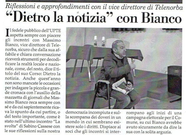 Dott. Massimo Bianco su Fax del 2 marzo 2019