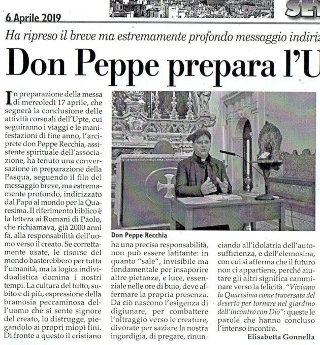 Don Peppe su Fax del 6 aprile 2019