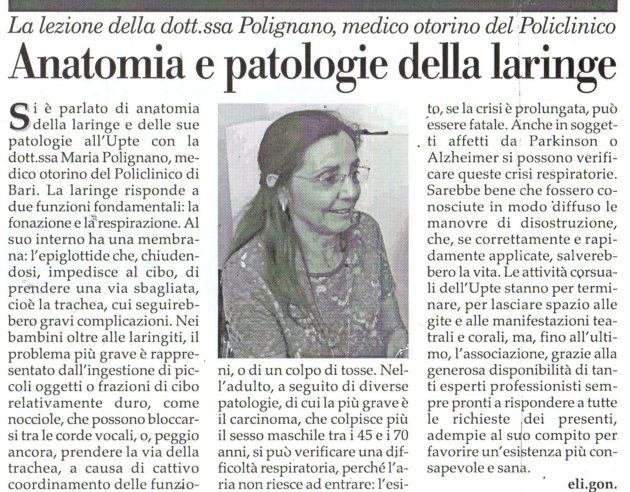 Dott.ssa Polignano su Fax del 20 aprile 2019