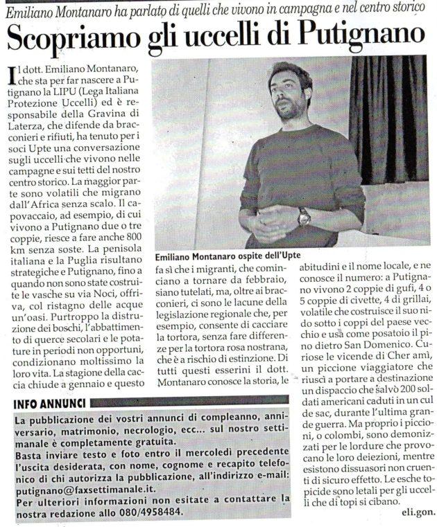 Emiliano Montanaro su Fax del 6 aprile 2019