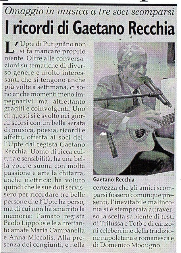 Gaetano Recchia su Fax del 6 aprile 2019