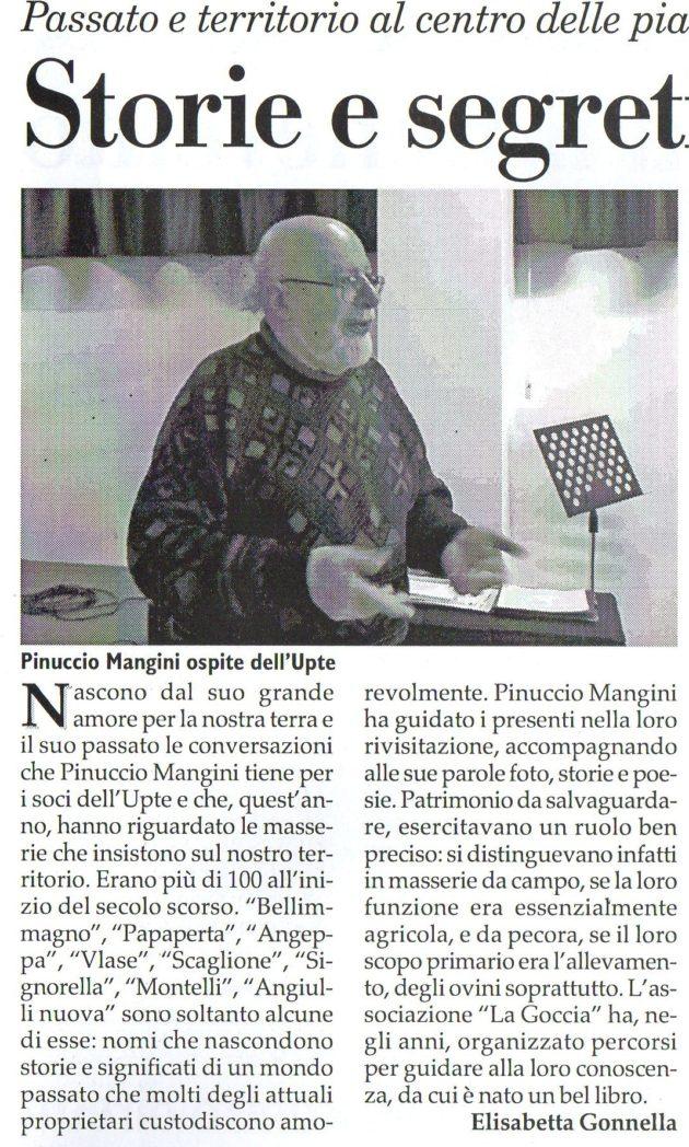 Pinuccio Mangini su Fax del 13 aprile 2019