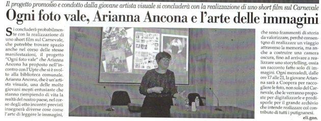 Arianna Ancona su Fax del 26 ottobre 2019