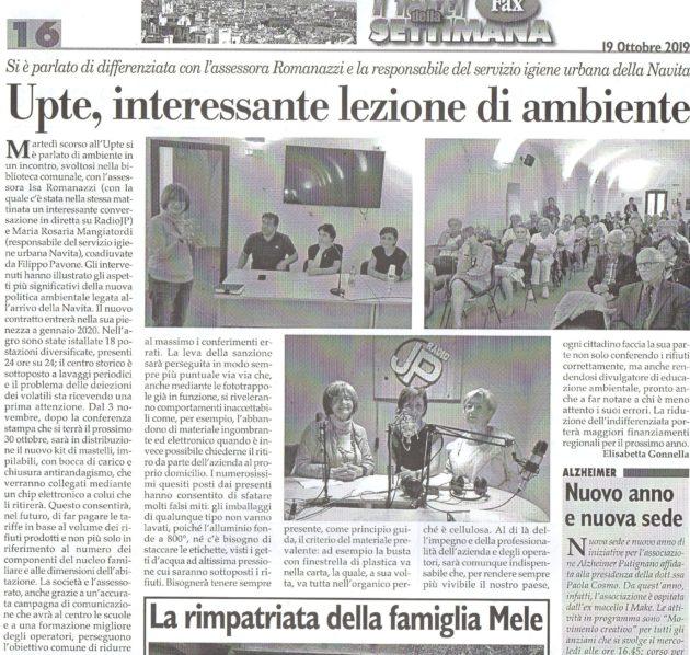 Assessora Romanazzi e Navita su Fax del 19 ottobre 2019
