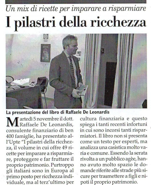 De Leonardis su Fax del 9 novembre 2019