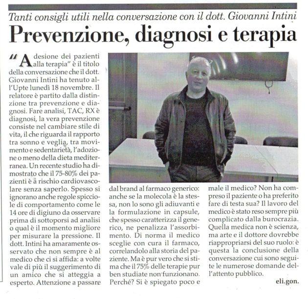 Dott. Intini su Fax del 23 novembre 2019