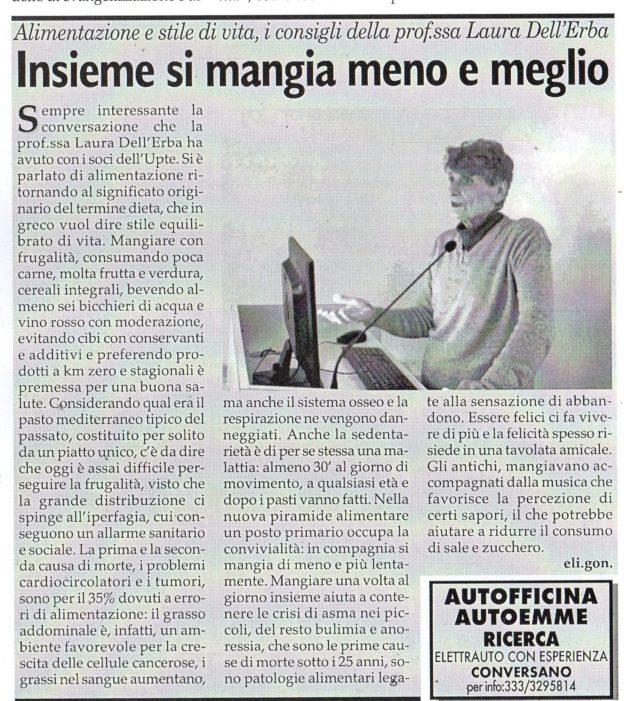 Prof.ssa dell'Erba su Fax del 20 dicembre 2019