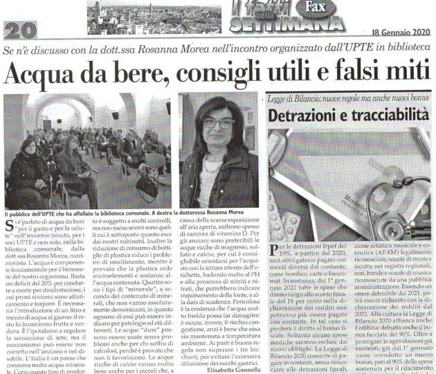 Dott.ssa Morea su Fax del 18-01-2020