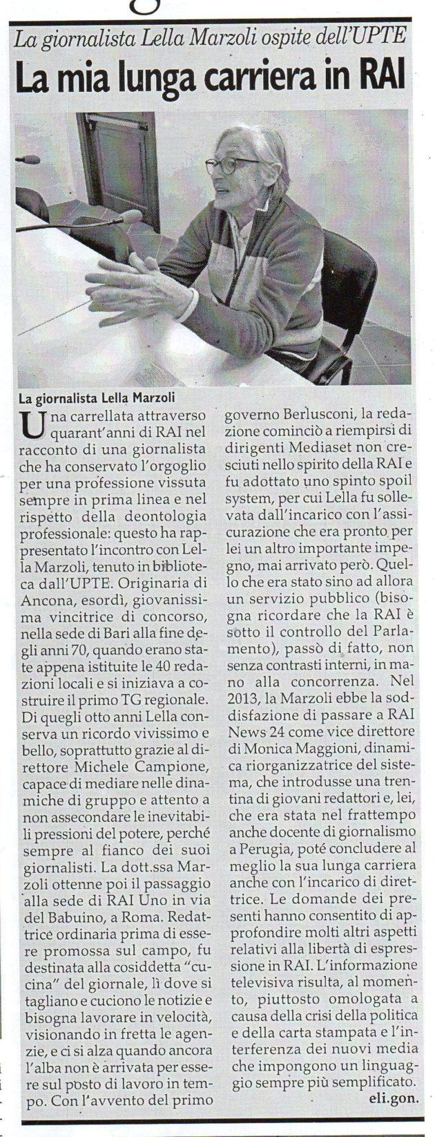 Dott.ssa Marzoli su Fax dell'8 febbraio 2020