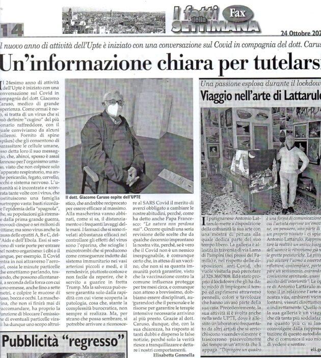 Caruso e Lattarulo su Fax del 24 ottobre 2020