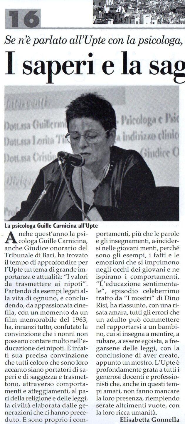 Dott.ssa Carnicina su Fax del 14 novembre 2020