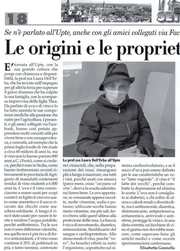 prof.ssa dell'Erba su Fax del 7 novembre 2020