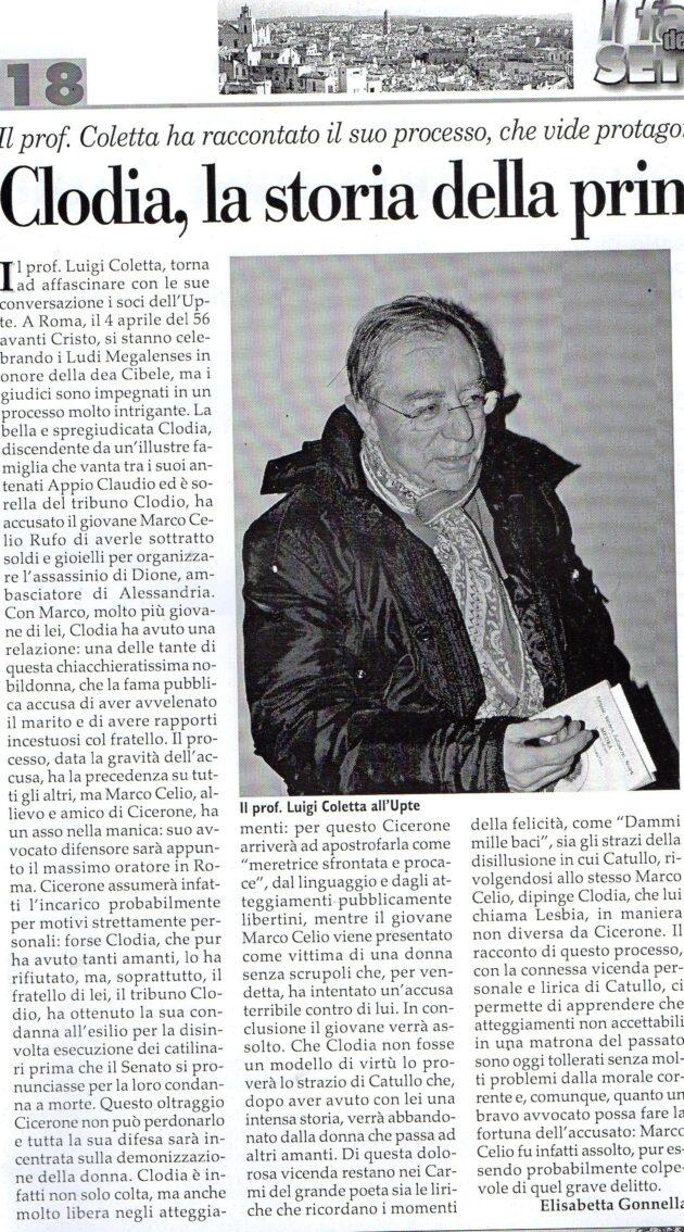 Prof. Coletta su Fax del 16 gennaio 2021