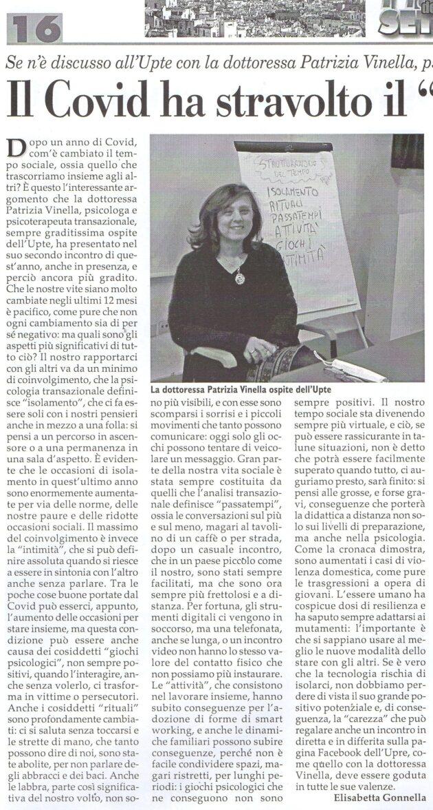 Dott.ssa Vinella su Fax del 13 marzo 2021