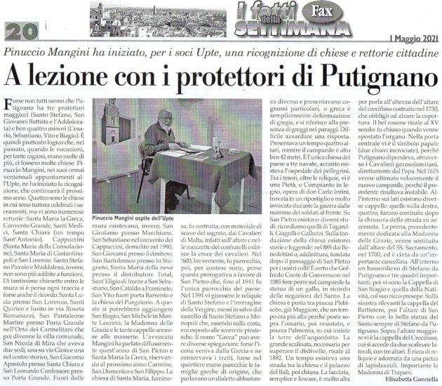 Avv. Pinuccio Mangini su Fax dell'1 maggio 2021